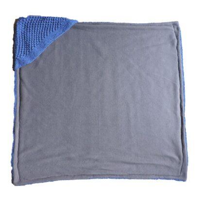 handgemaakte omslagdoek in het blauw