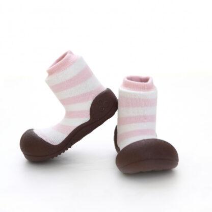 Attipas babyschoenen roze wit gestreept