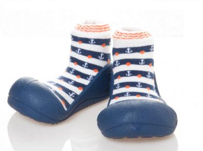 Attipas babyschoenen marineblauw met ankers