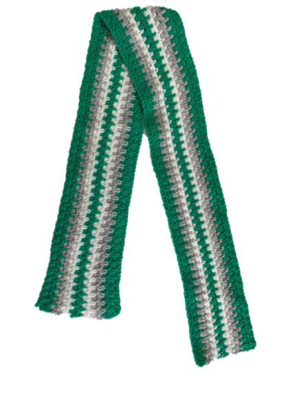 groen grijze gestreepte kindersjaal