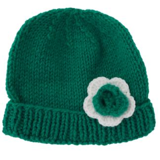 muts groen met groene en witte bloem