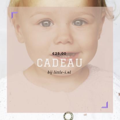 Kado kaart 25 euro van Little-i