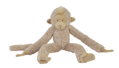 Hanging Monkey: super zachte knuffelaap in het beige