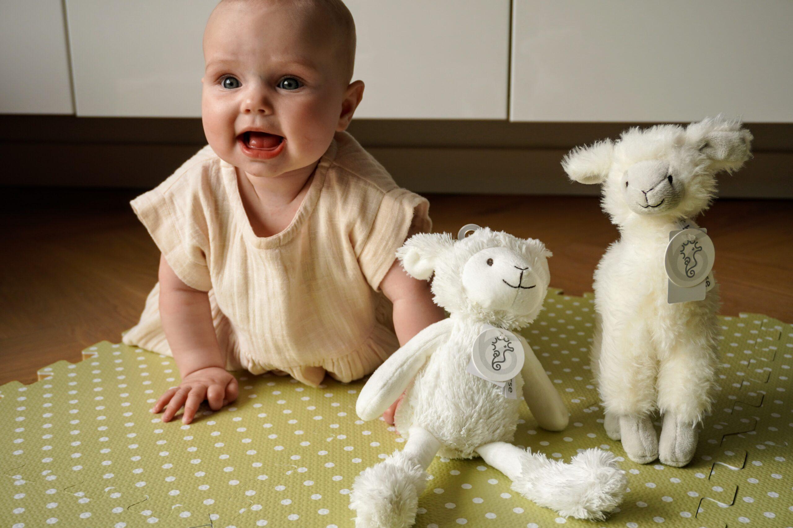 Baby met Sheep Skyler en Lama Lily van Happy Horse