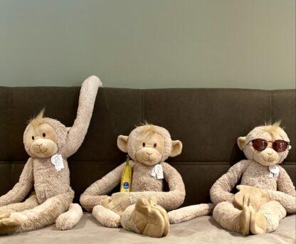 Crazy hanging monkeys van Happy Horse