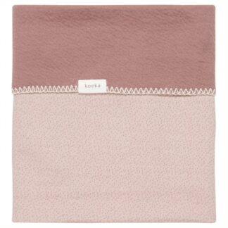 Riversible Riga deken pink grey