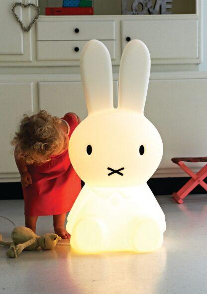 Spelen met de grote lamp van Nijntje